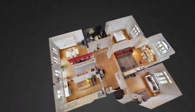 5-Zimmer-Altbauwohnung mit Balkon in Darmstadt-Paulusviertel +VERKAUFT+ 3D Model